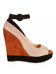 Paul Andrew Whitney Colourblock Suede Wedges