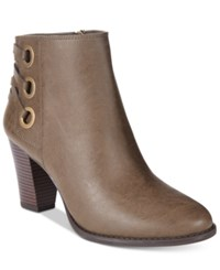 Inc International Concepts Women's Jessa Block Heel Booties Only At Macy's Women's Shoes Mushroom