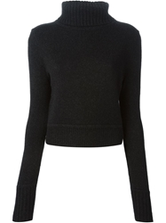 A.L.C. Ribbed Turtle Neck Sweater Grey