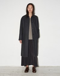 Moderne Wool Trenchcoat Charcoal