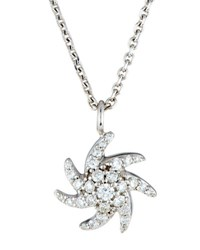 Mimi So Sesi 18K White Gold Pave Diamond Starfish Pendant Necklace