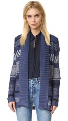 Bb Dakota Morley Pattern Cardigan Blue