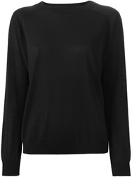 Cividini Ribbed Collar Sweater Black