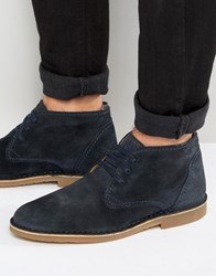 Selected Homme Royce Suede Warm Boots Blue Navy