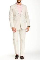 Brooks Brothers Beige Two Button Notch Lapel Suit