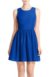 Women's A By Amanda 'Emmie' Cutout Back Fit And Flare Dress Royal