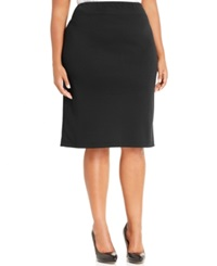 Style And Co. Plus Size Ponte Knit Pencil Skirt Only At Macy's