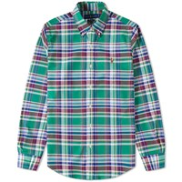 Polo Ralph Lauren Button Down Check Oxford Shirt Green