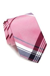 14Th And Union Douro Plaid Silk Tie Pink