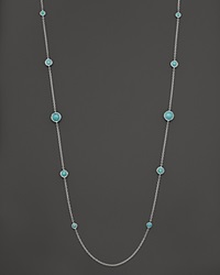 Ippolita Sterling Silver Rock Candy Lollipop Necklace In Turquoise 37 No Color