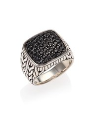 John Hardy Sterling Silver And Black Sapphire Ring