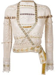 Etro Wrap Crochet Jacket Nude And Neutrals