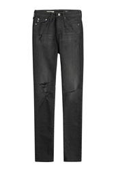 Ag Adriano Goldschmied Distressed Skinny Jeans Gr. 25