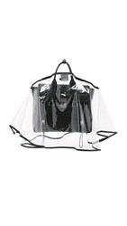 The Handbag Raincoat Large City Slicker Handbag Raincoat Clear Black