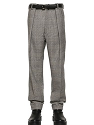 Jil Sander 18Cm Prince Of Wales Wool Wide Leg Pants