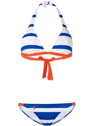 Polo Ralph Lauren Striped Bikini Blue