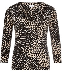 Cc Spot Print Cowl Neck Jersey Top Multi Coloured