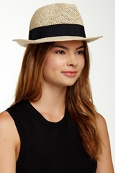 Free Press Banded Paper Fedora Black