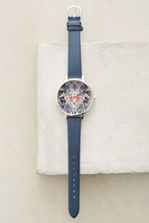 Anthropologie Enchanted Garden Watch Navy