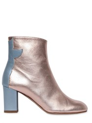 Camilla Elphick 75Mm Metallic Leather Cropped Boots