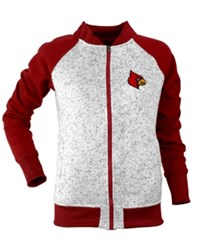 Antigua Women's Louisville Cardinals Visitor Full Zip Jacket Gray Black