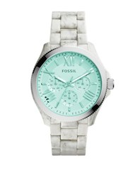 Fossil Cecile Horn Acetate Multifunction Watch White