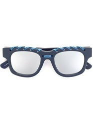 House Of Holland 'Ropey' Sunglasses Blue