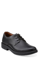 Clarks 'Stratton Way' Plain Toe Derby Men Black