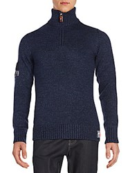 Superdry Knit Half Zip Sweater Rich Navy