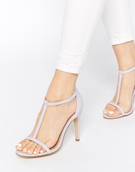 New Look Swarm Barely There Lilac Heeled Sandals Purple