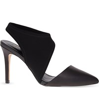 Reiss Atlas Leather And Neoprene Courts Black