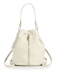 Elizabeth And James Textured Leather Sling Backpack Shell