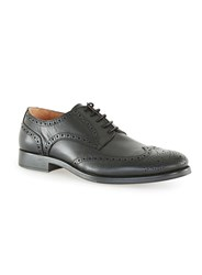 Topman Selected Homme Black Leather Brogues