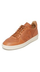 Veja V 10 Leather Bastille Sneakers Tan