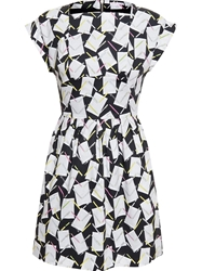 Olympia Le Tan Cotton Dress With Stationary Print