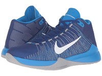 Nike Zoom Ascention Deep Royal Blue Photo Blue Wolf Grey White Men's Basketball Shoes