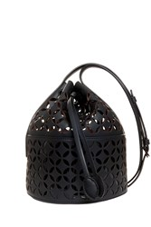 Alaia Mini Duffle Bucket Bag Black