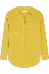 Equipment Slim Signature Washed Silk Shirt Marigold