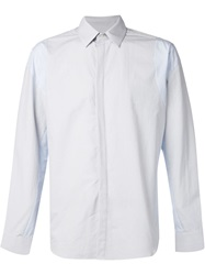 Tim Coppens Panelled Shirt Blue