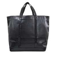 Vanessa Bruno Large Leather Tote With Glitter