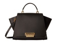 Zac Posen Eartha Iconic Soft Top Handle Black Top Handle Handbags