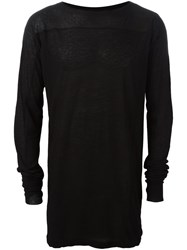 Julius Lightweight Long Length Sweater Black
