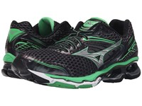 Mizuno Wave Creation 17 Ombre Blue Silver Irish Green Men's Running Shoes Black