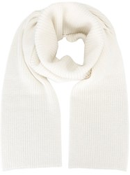 Barbara Bui Ribbed Knitted Scarf Nude And Neutrals