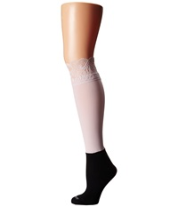 Bootights Lacie Lace Darby Knee High Ankle Sock Blush Knee High Hose Pink