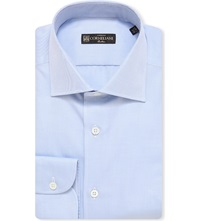 Corneliani Slim Fit Cotton Shirt Sky