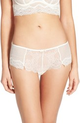 Women's Passionata 'Blossom' Sheer Lace Hipster Briefs Ivory