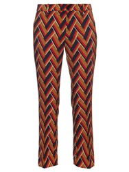 Gucci Chevron Print Kick Flare Trousers Multi