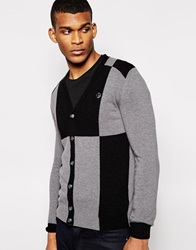 Love Moschino Cardigan Giant Squares Grey