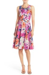 Women's Donna Morgan Floral Print Woven Fit And Flare Dress